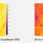 Porównanie efektu 10 cm termoizolacji pianką Pur z 20 cm standardową izolacją.