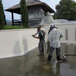 Polimocznik - budowa basenu