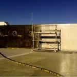 Hydroizolacja zbiornika wodnego.